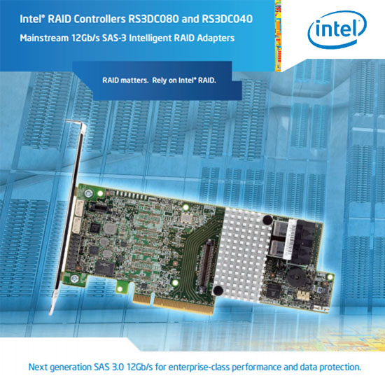 Intel RS3DC080 and 040 RAID Controller collateral